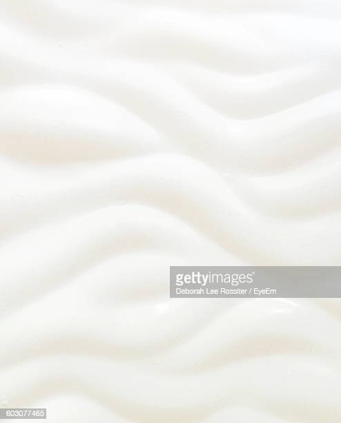Full Frame Shot Of Abstract White Wave Pattern