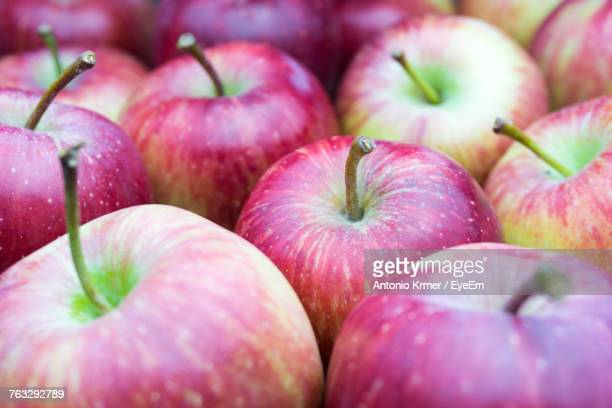 Full Frame Shot Of Apples For Sale At Market