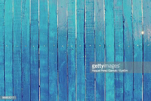 Full Frame Shot Of Blue Wooden Fence