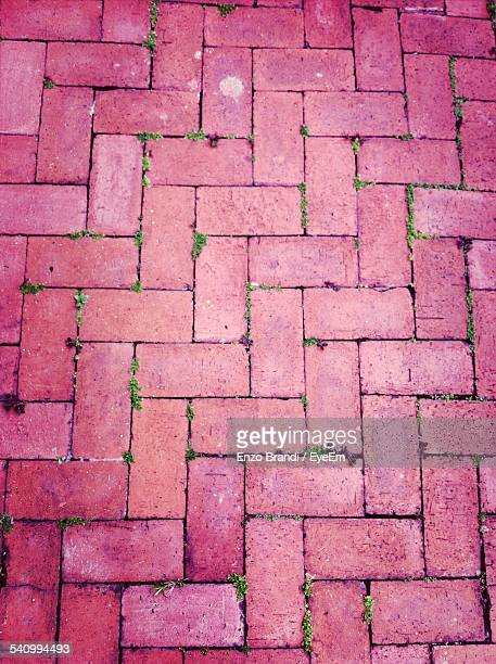 Full Frame Shot Of Brick Footpath