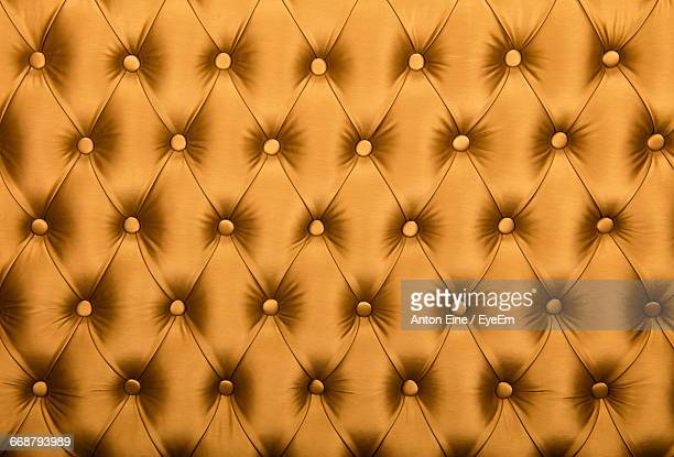 Full Frame Shot Of Button Tufted Leather