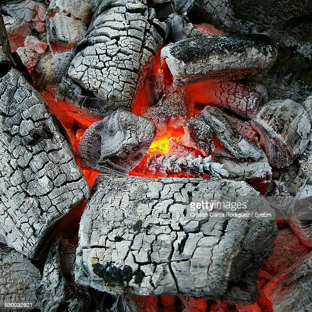 Full Frame Shot Of Charcoal Fire