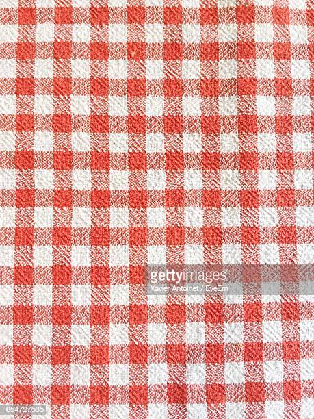 Full Frame Shot Of Checked Pattern Napkin