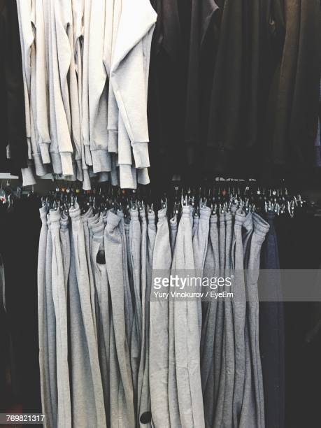 Full Frame Shot Of Clothes Hanging At Store