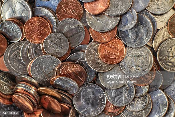 Full Frame Shot Of Coins