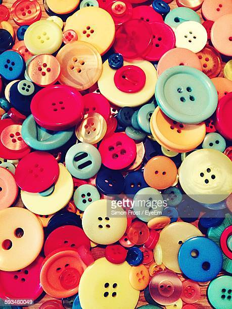 Full Frame Shot Of Colorful Buttons