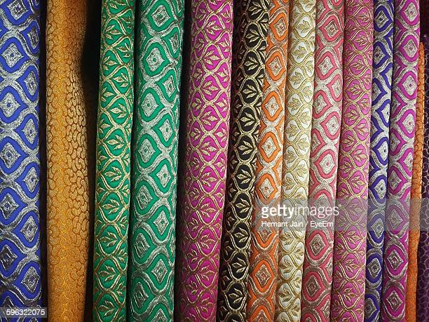 Full Frame Shot Of Colorful Fabrics In Shop
