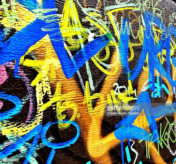 Full Frame Shot Of Colorful Graffiti Wall