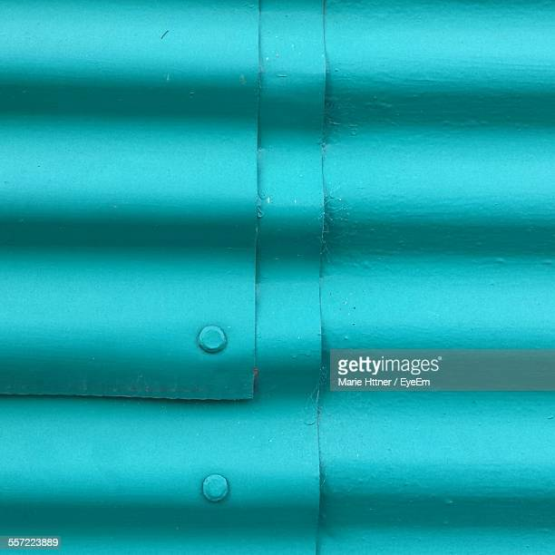 Full Frame Shot Of Corrugated Iron Roof
