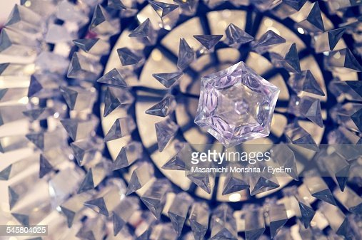 Full Frame Shot Of Crystal Chandelier