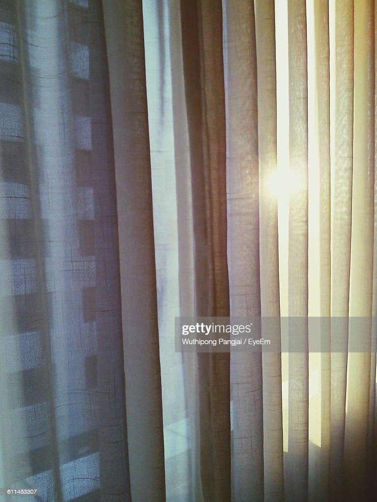 Full Frame Shot Of Curtains At Window