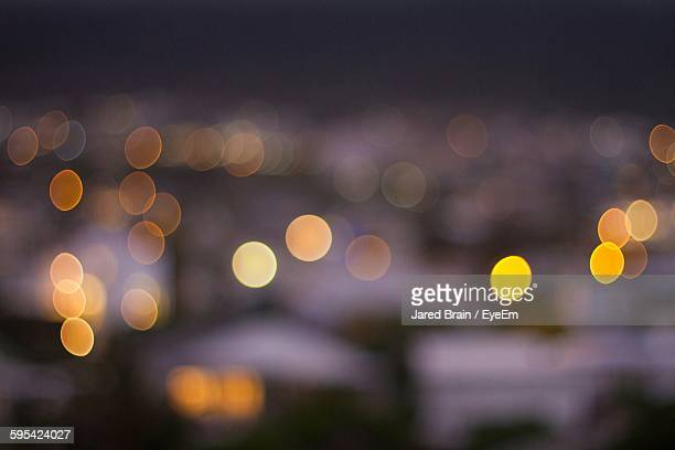 Full Frame Shot Of Defocused City Lights