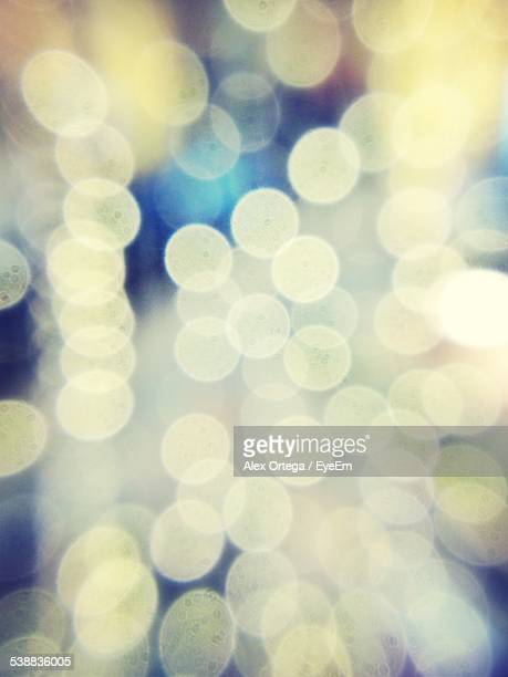 Full Frame Shot Of Defocused Lights