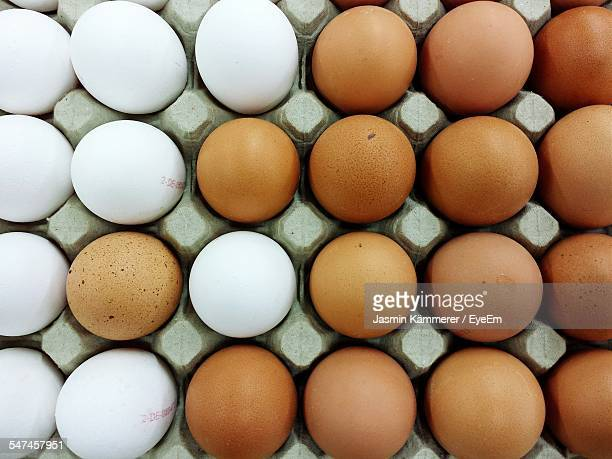 Full Frame Shot Of Eggs In Crate