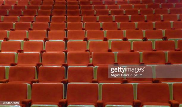 Full Frame Shot Of Empty Seats In Auditorium