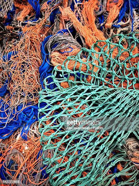 Full Frame Shot Of Fishing Nets