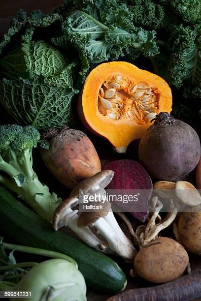 Full frame shot of fresh vegetables