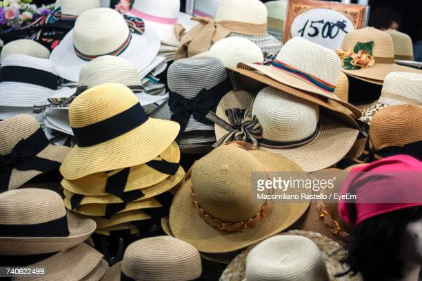 Full Frame Shot Of Hats On Floor