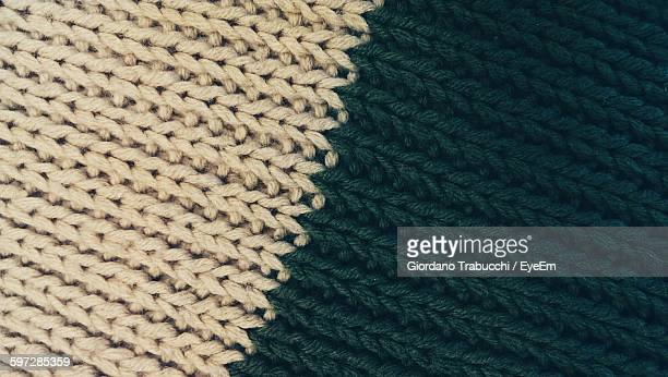 Full Frame Shot Of Knitted Scarf