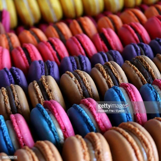 Full Frame Shot Of Macaroons