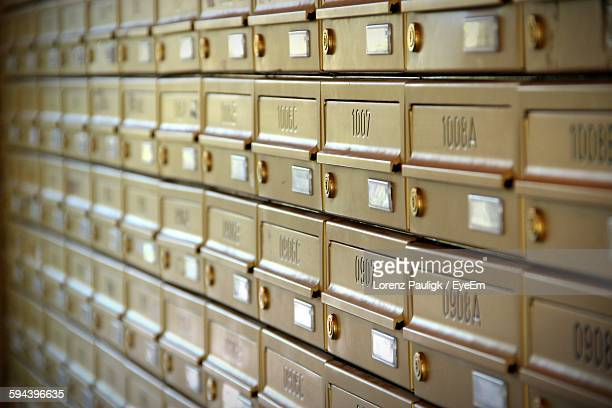 Full Frame Shot Of Mailboxes