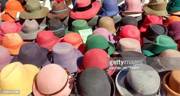 Full Frame Shot Of Multi Colored Hats