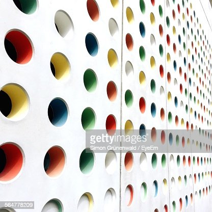 Full Frame Shot Of Multi Colored Patterned Wall