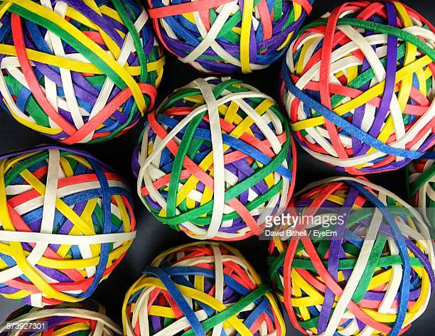 Full Frame Shot Of Multi Colored Rubber Band Balls