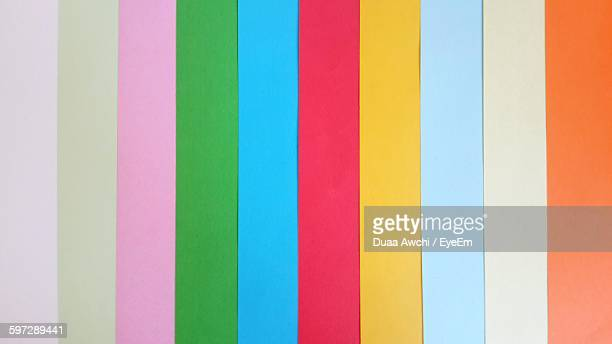 Full Frame Shot Of Multi Colored Striped Wall