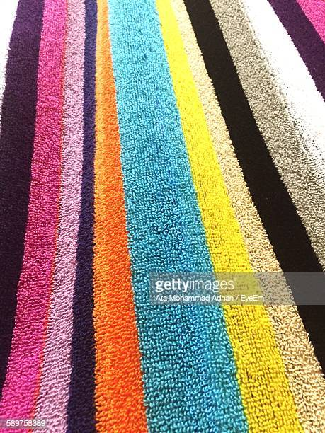 Full Frame Shot Of Multi Colored Stripes On Carpet
