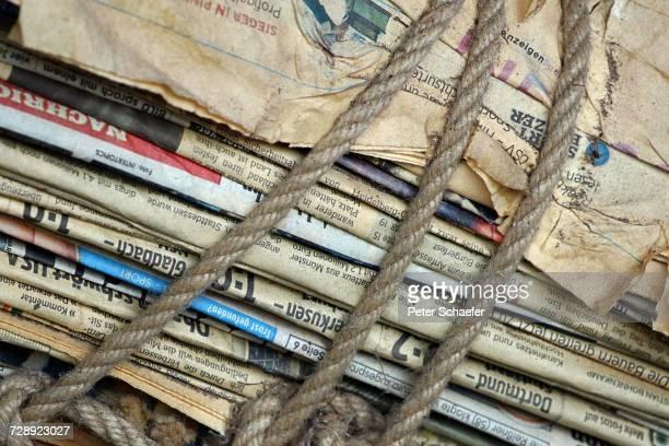 Full Frame Shot Of Newspapers