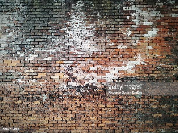 Full Frame Shot Of Old Brick Wall