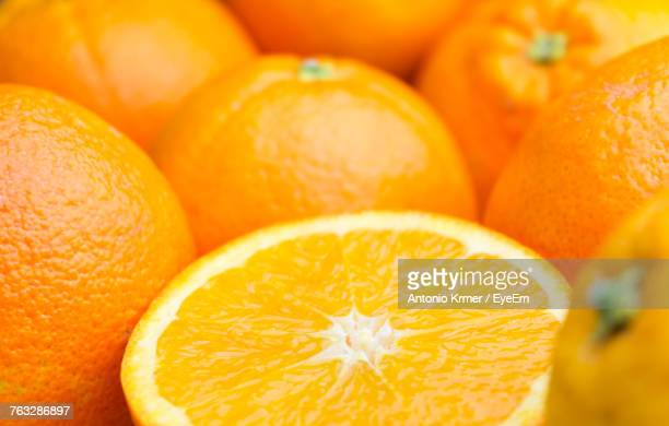 Full Frame Shot Of Oranges For Sale At Market