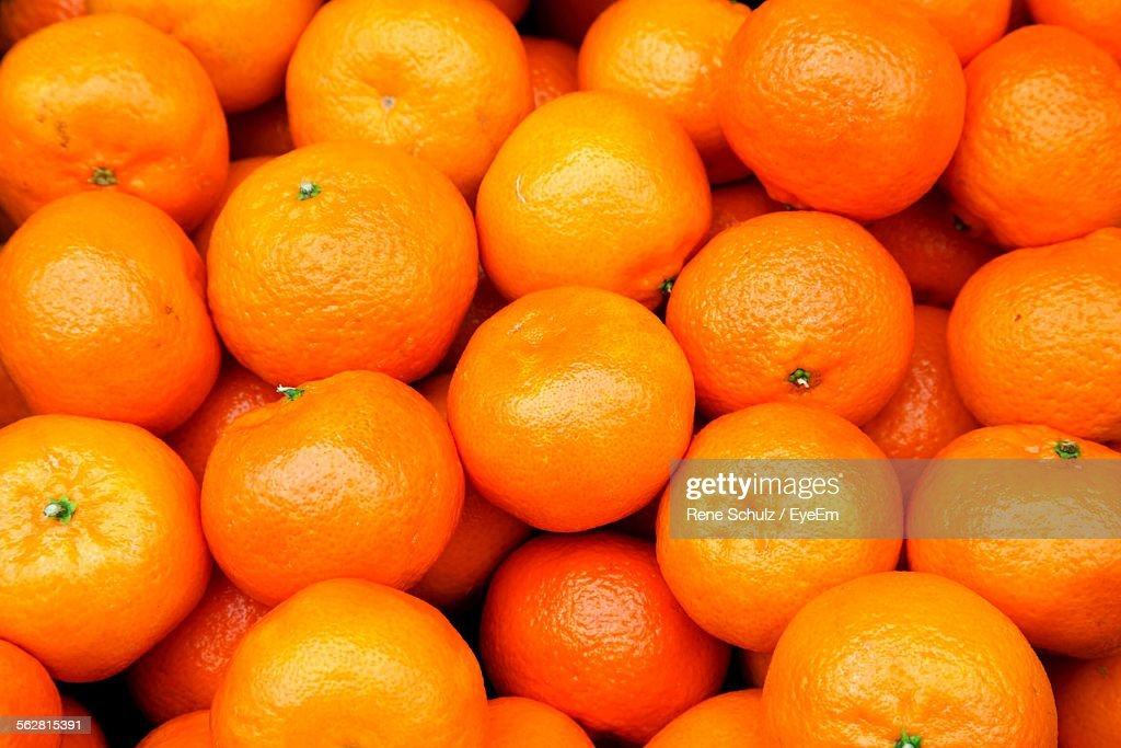 Full Frame Shot Of Oranges In Market