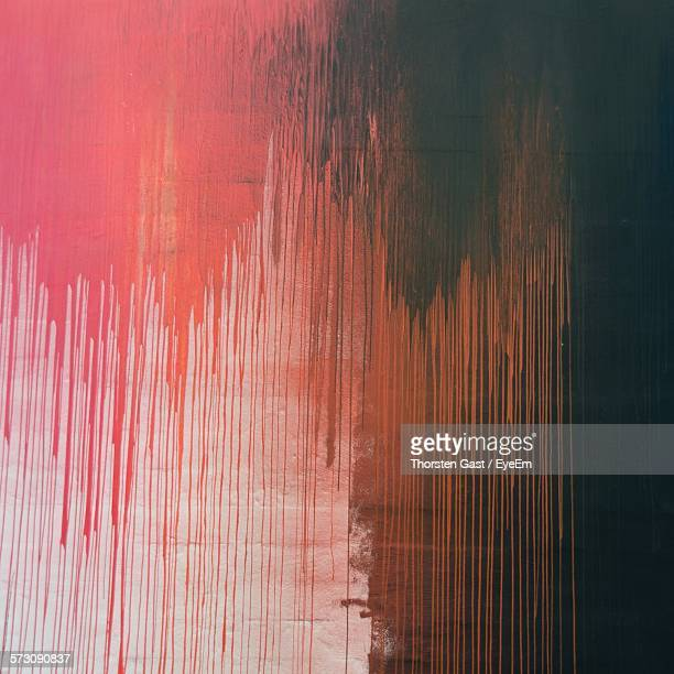 Full Frame Shot Of Paint Dripping On Wall