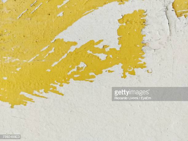 Full Frame Shot Of Paint Peeling Off From Wall
