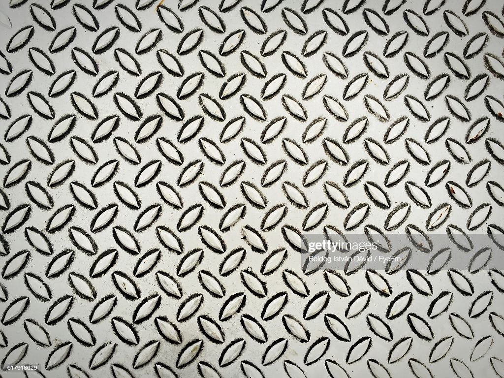 Full Frame Shot Of Pattern On Metallic Sheet