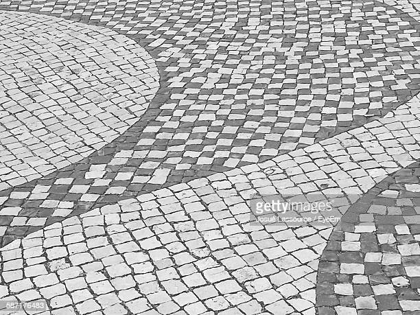 Full Frame Shot Of Patterned Footpath