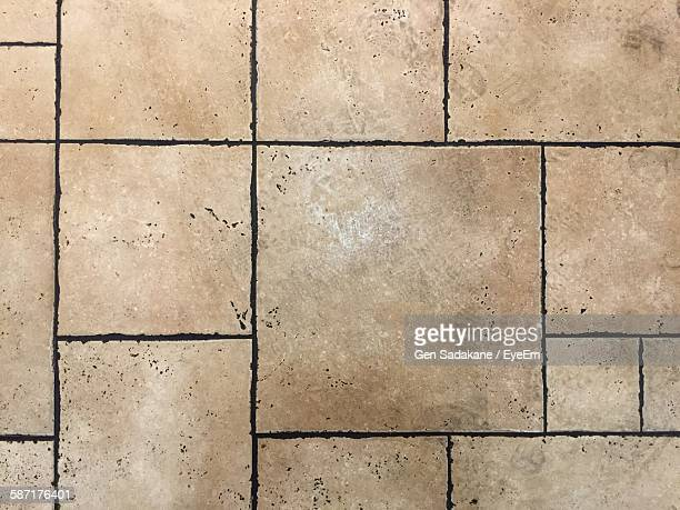 Full Frame Shot Of Paving Stone Footpath