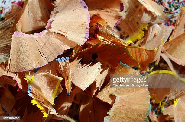 Full Frame Shot Of Pencil Shavings