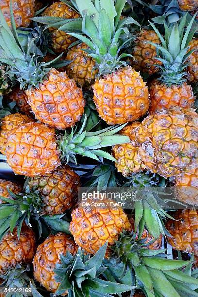 Full Frame Shot Of Pineapples