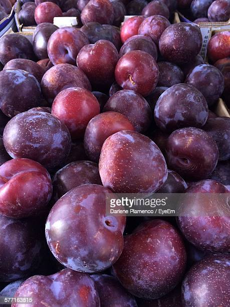 Full Frame Shot Of Plums For Sale At Market
