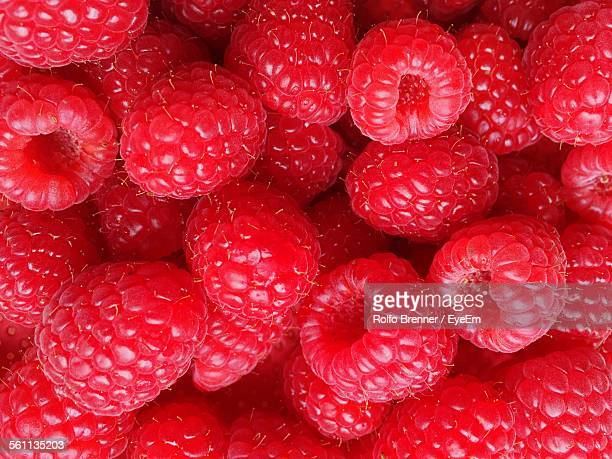 Full Frame Shot Of Raspberries