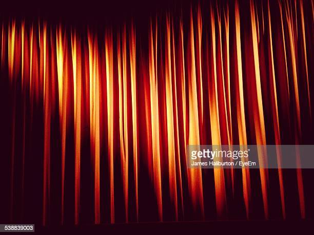 Full Frame Shot Of Red Stage Curtain
