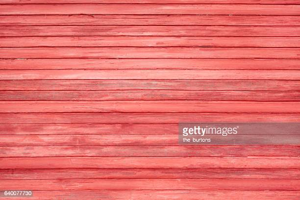 Full frame shot of red wooden wall