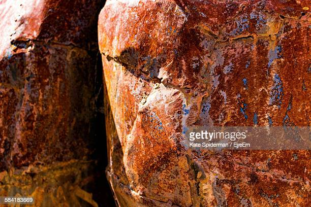 Full Frame Shot Of Rusty Copper Horse Sculpture