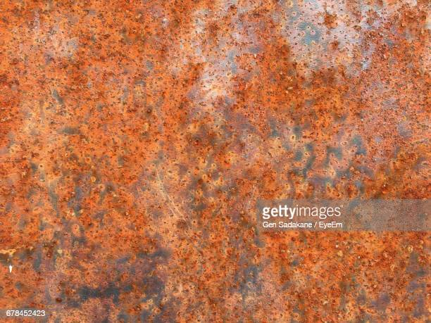 Full Frame Shot Of Rusty Sheet Metal