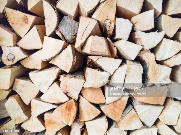 Full Frame Shot Of Stack Of Firewood