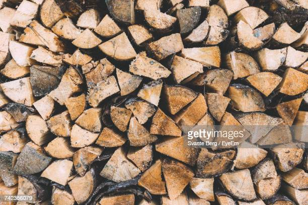 Full Frame Shot Of Stacked Logs