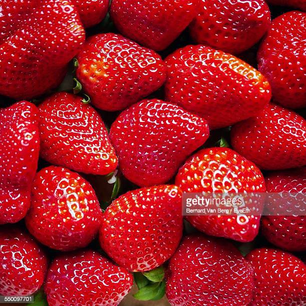 Full Frame Shot Of Strawberries